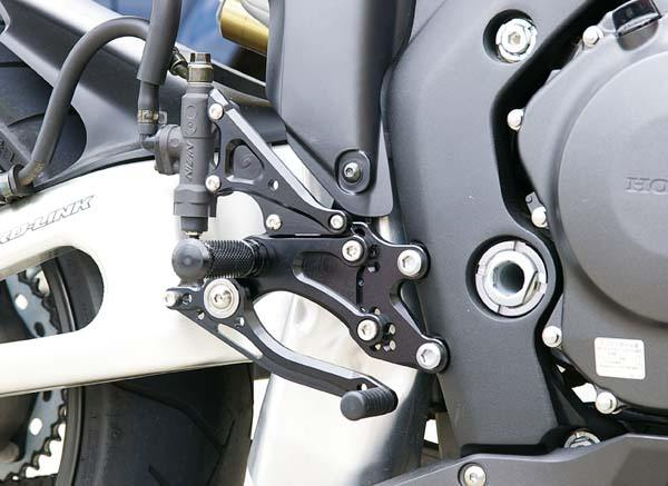 Sato Racing Rear Sets - #H-CBR1RS2-BK CBR 1000RR 04-07/Standard Or Reverse Shift/7 Positions/Black Anodized