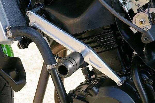 Sato Racing Frame Sliders - #K-250FS-BK EX 250 Ninja 08-12/No Fairing Modifications Required/Black Delrin