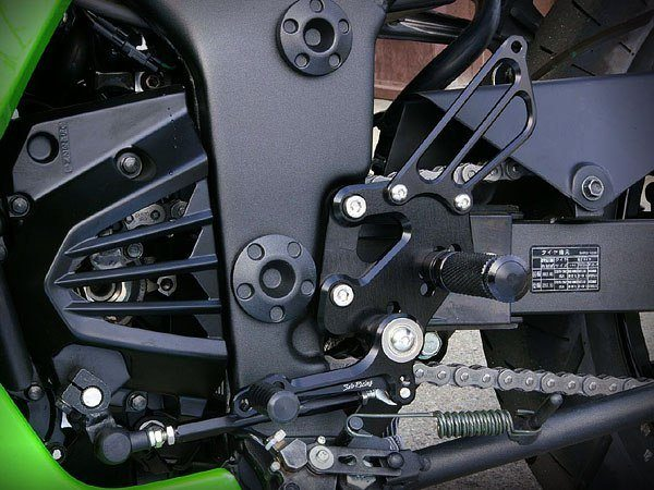 Sato Racing Rear Sets - #K-250RS-GD EX 250 Ninja 08-12/Standard Shift Only/5 Positions/Black Anodized