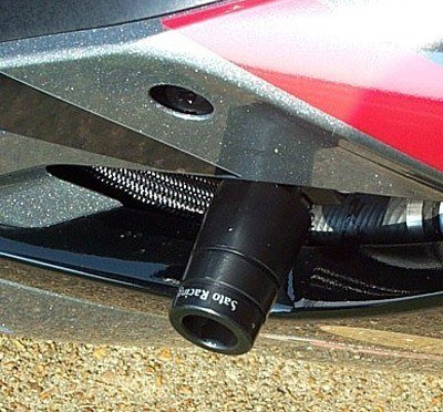 Sato Racing Frame Sliders - #S-GSX105FS-BK GSXR 1000 05-06/Minor Fairing Modifications Required/Black Delrin