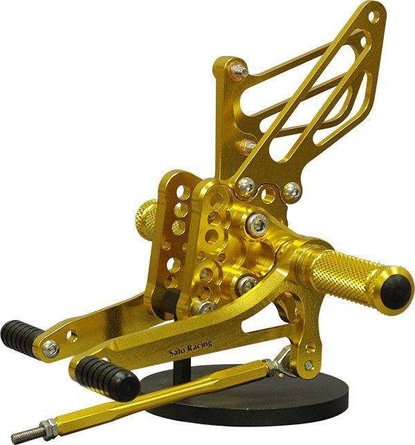 Sato Racing Rear Sets - #S-GSX105RS-GD GSXR 1000 05-06/Standard Or Reverse Shift/9 Positions/Gold Anodized