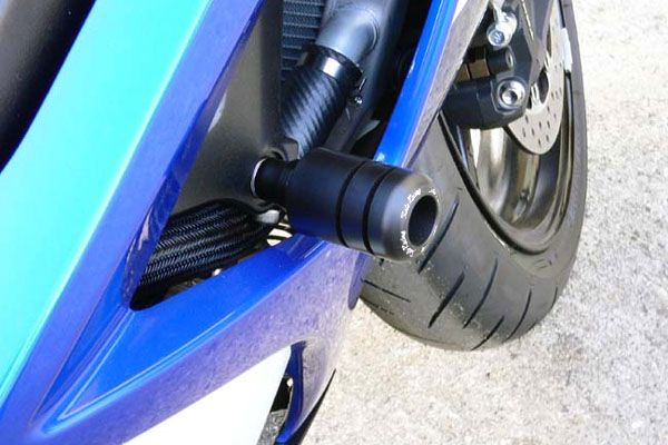 Sato Racing Frame Sliders - #S-GSX107FS-BK GSXR 1000 07-08/Black Delrin/No Fairing Modifications Required