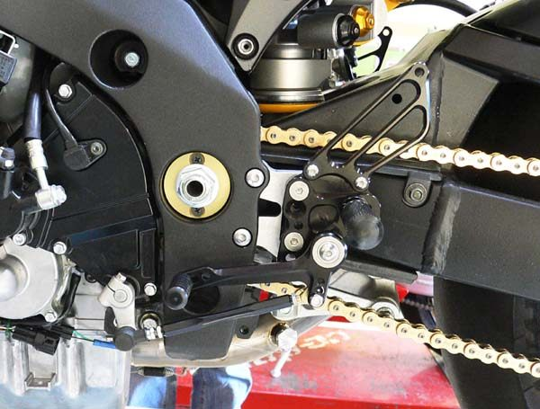 Sato Racing Rear Sets - #S-GSX107RS-BK GSXR 1000 07-08/Standard Or Reverse Shift/8 Positions (24)/Black Anodized
