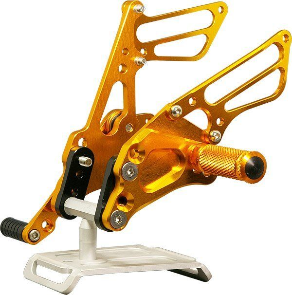 Sato Racing Rear Sets - #S-GSX109RS-GD GSXR 1000 09-16/Standard Or Reverse Shift/24 Positions/Gold Anodized