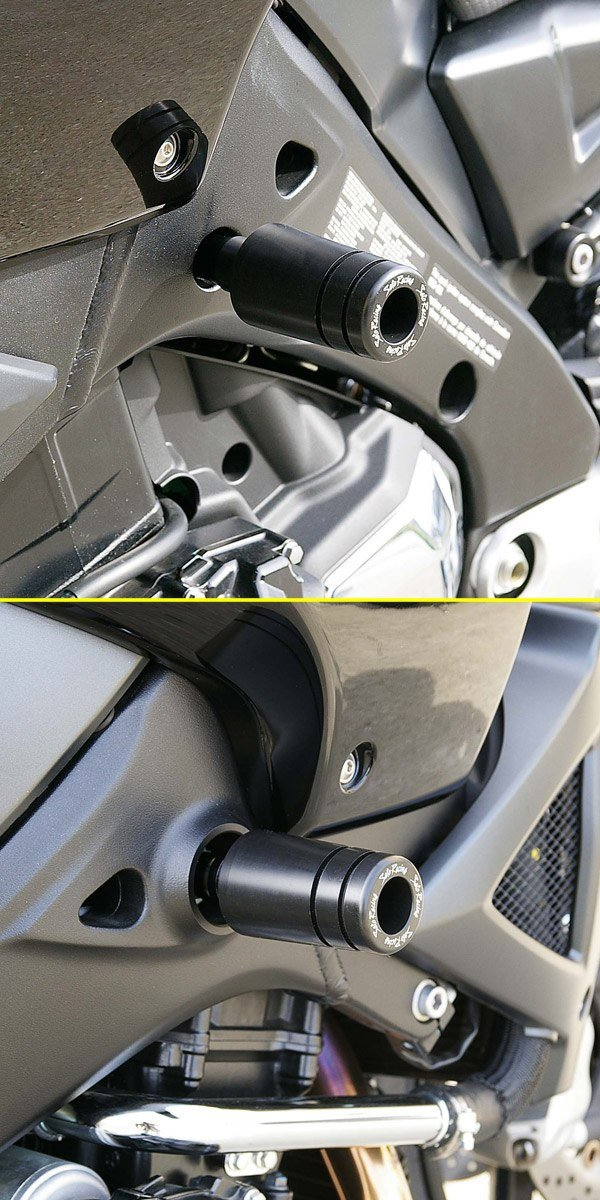 Sato Racing Frame Sliders - #S-KINGFS-BK GSX 1300BK B King 08-12/Black Delrin Sliders/Billet Aluminum Brackets/Stainless Hardware