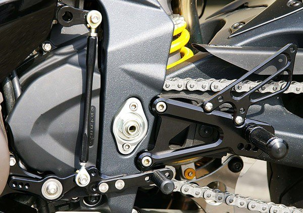 Sato Racing Rear Sets - #T-67511RS-BK Daytona 675R 11-12/8 Positions Including Stock & Forward/Black Anodized