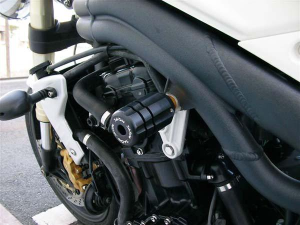 Sato Racing Frame Sliders - #T-STFS-BK Speed Triple 1050 05-10/Black Delrin