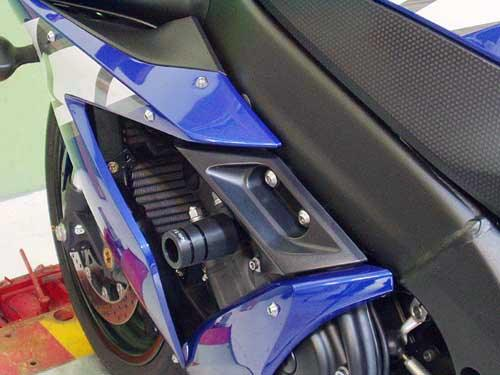 Sato Racing Frame Sliders - #Y-R104FS-BK YZF 1000 R1 04-06/Black Delrin/No Fairing Modifications Required