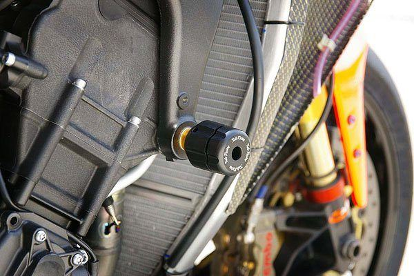Sato Racing Frame Sliders - #Y-R109RFS-BK YZF 1000 R1 09-14/Black Delrin Sliders/Racing Version/Fairing Modifications Required