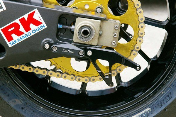 Sato Racing Race Stand Hooks - #Y-R109RSH YZF 1000 R1 09-14/Black Delrin Sliders/Requires Drilling/Install On Swingarm