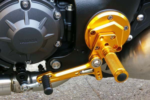 Sato Racing Rear Sets - #Y-VMAX09RS-GD VMX 1700 V Max 09-17/Standard Or Reverse Shift/10 Positions/Gold Anodized