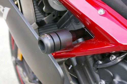 Sato Racing Frame Sliders - #Y-R107FS-BK YZF 1000 R1 07-08/Black Delrin/No Fairing Modifications required