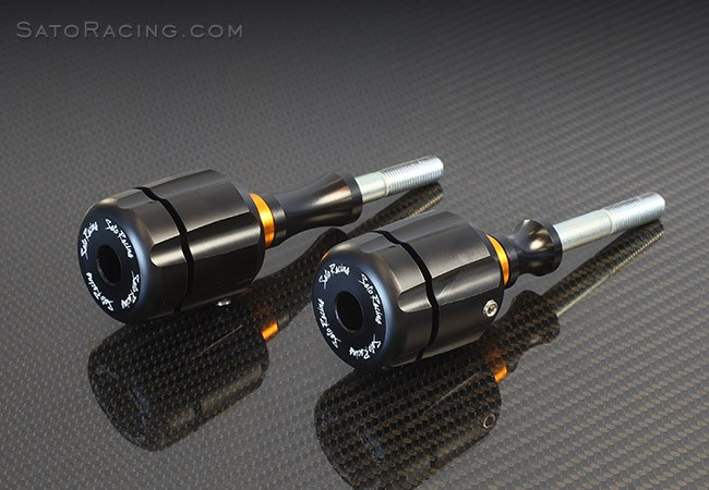 Sato Racing Frame Sliders - #S-GSX13FS GSX1300R 99-18 Frame Sliders (Fairing Mods Required)