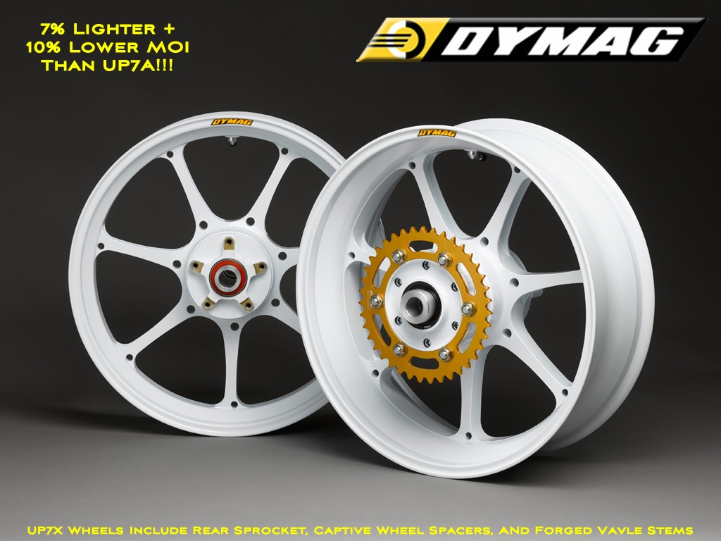 Dymag Ultra Pro UP7 Forged Aluminum Wheels 7 Spoke Ultra Lightweight Pair